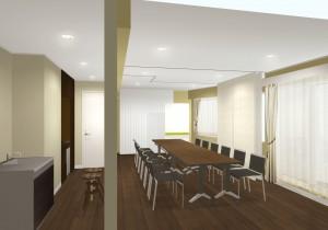 5階セミナールームのCG画像