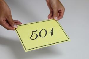 部屋番号のプレート
