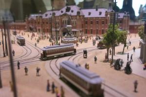 万世橋駅が存在した時のジオラマが展示されています。