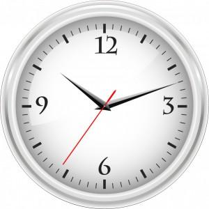 事務用の白い時計