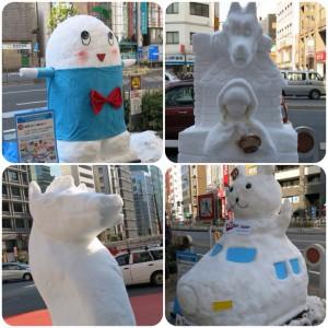 嬬恋村からやってきた雪だるま