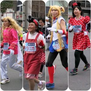 コスプレをした女性たちが東京まらのンに参加