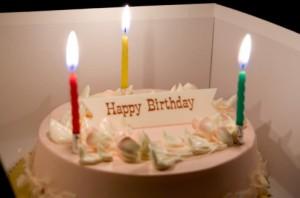 星座別お誕生日会のケーキのイメージ画像