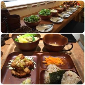前菜とお味噌汁はセルフサービス