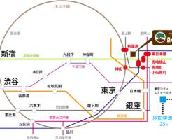 最寄駅は全部で6駅、7路線が利用可能なので、とっても便利!