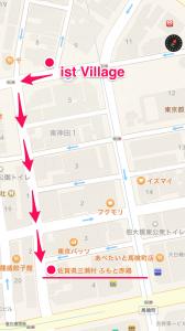 ふもと赤鶏までの参考地図