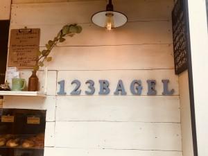 123ベーグルのサイン