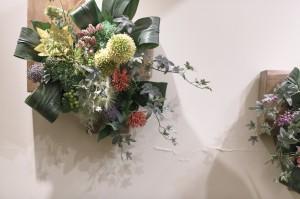 施術ルームの花飾り