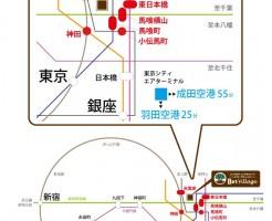 サロンのエリアマップ